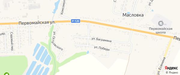 Улица Баграмяна на карте Карачева с номерами домов
