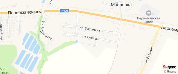 Улица Победы на карте Карачева с номерами домов