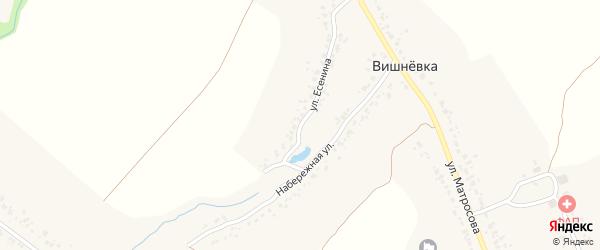 Набережная улица на карте деревни Вишневки с номерами домов