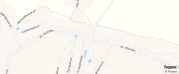 Улица Жукова на карте деревни Масловки с номерами домов