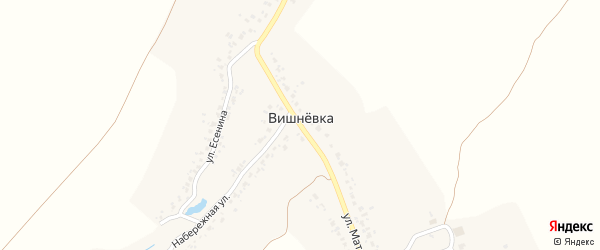 Улица Митюкова на карте деревни Вишневки с номерами домов
