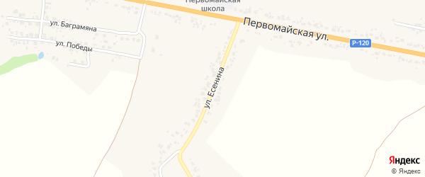 Улица Есенина на карте деревни Вишневки с номерами домов