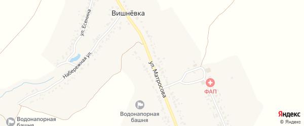 Улица Матросова на карте деревни Вишневки с номерами домов