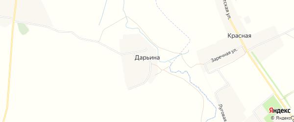 Карта деревни Дарьиной в Брянской области с улицами и номерами домов