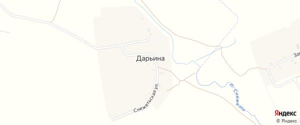 Снежетьская улица на карте деревни Дарьиной с номерами домов