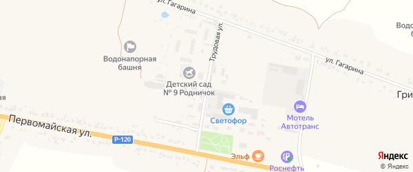 Трудовая улица на карте деревни Масловки с номерами домов