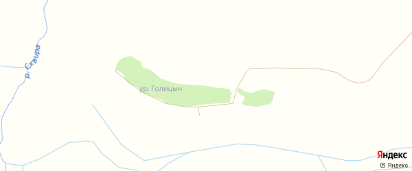 Яблочная улица на карте поселка Голицына с номерами домов