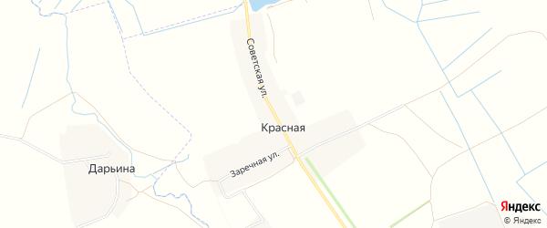 Карта Красной деревни в Брянской области с улицами и номерами домов