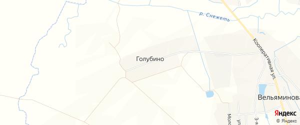 Карта деревни Голубино в Брянской области с улицами и номерами домов