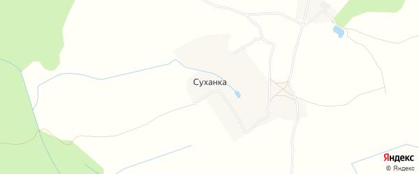 Карта деревни Суханки в Брянской области с улицами и номерами домов