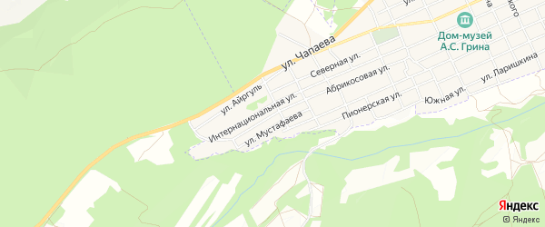 Карта Красного села города Старого Крыма в Крыму с улицами и номерами домов