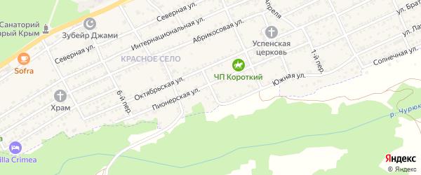 4-й переулок на карте Старого Крыма с номерами домов