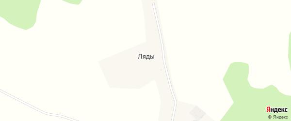Луговая улица на карте деревни Ляды с номерами домов
