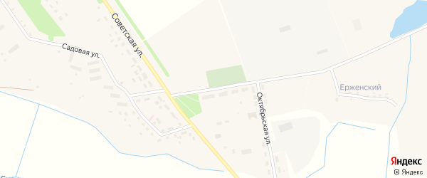 Октябрьская улица на карте села Вельяминова с номерами домов