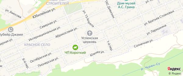 2-й переулок на карте Старого Крыма с номерами домов