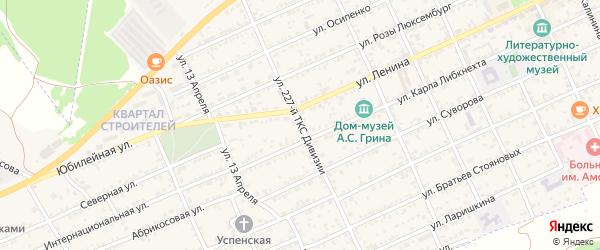 Улица 227-ой ТКС Дивизии на карте Старого Крыма с номерами домов