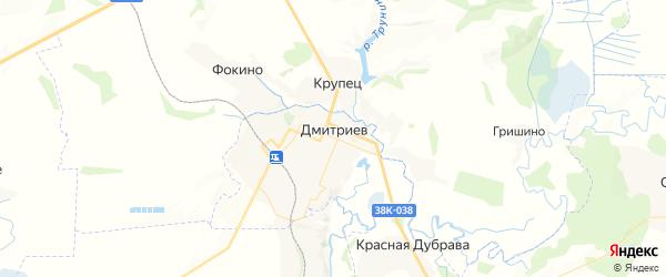 Карта Дмитриева с районами, улицами и номерами домов