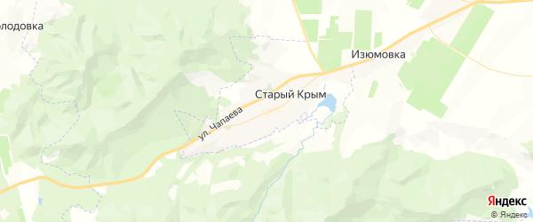 Карта Старого Крыма с районами, улицами и номерами домов