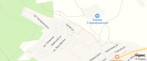 Тихая улица на карте Старого Крыма с номерами домов