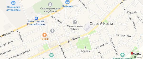 Улица Победы на карте Старого Крыма с номерами домов