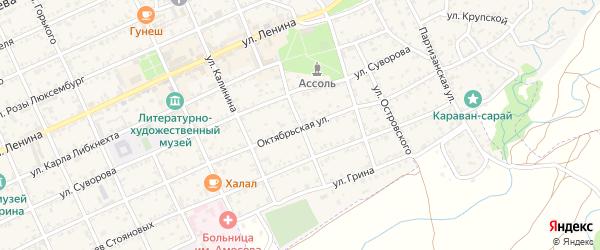Пролетарская улица на карте Старого Крыма с номерами домов