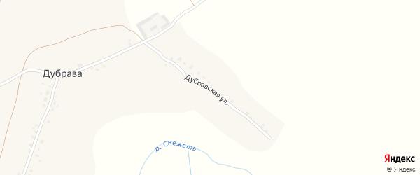 Дубравская улица на карте деревни Дубравы с номерами домов