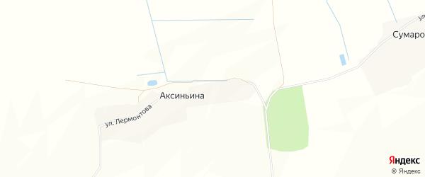 Карта деревни Аксиньиной в Брянской области с улицами и номерами домов