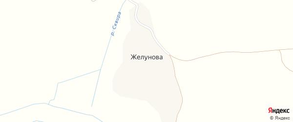 Желуновская улица на карте деревни Желунова с номерами домов