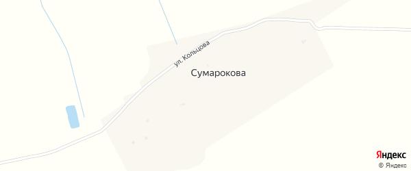 Улица Кольцова на карте деревни Сумарокова с номерами домов
