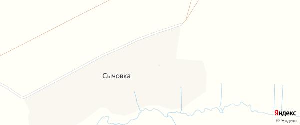 Малиновая улица на карте деревни Сычовки с номерами домов