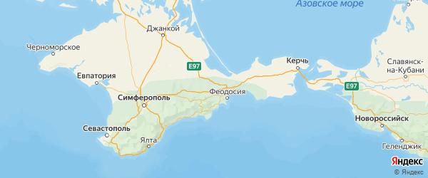 Карта Кировского района республики Крым с городами и населенными пунктами