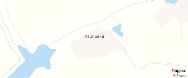 Озерная улица на карте деревни Карповки с номерами домов