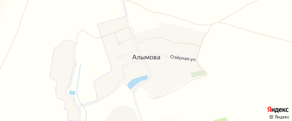 Карта села Алымова в Брянской области с улицами и номерами домов