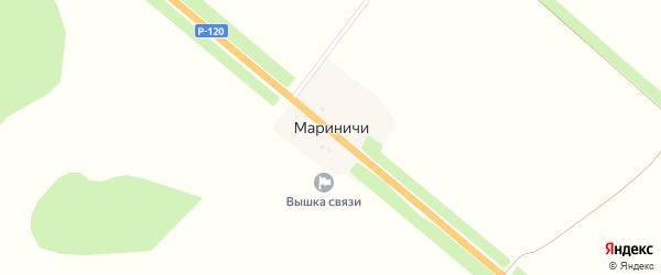 Территория сдт работников управления противопожар. на карте поселка Мариничей с номерами домов