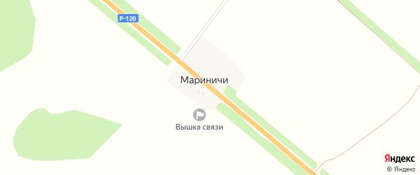 Магистральная улица на карте поселка Мариничей с номерами домов