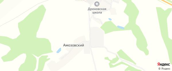 Карта Амозовского поселка в Брянской области с улицами и номерами домов