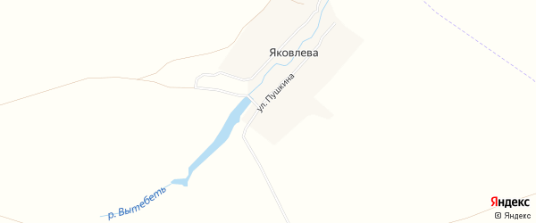Карта деревни Яковлева в Брянской области с улицами и номерами домов