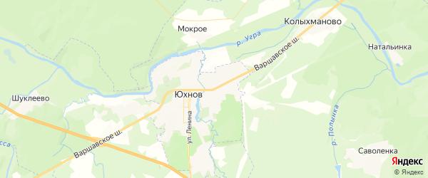 Карта Юхнова с районами, улицами и номерами домов