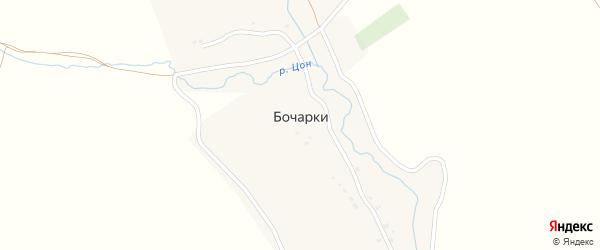 Лесная улица на карте села Бочарки с номерами домов