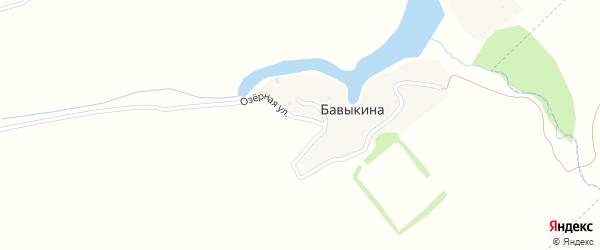 Озерная улица на карте деревни Бавыкиной с номерами домов