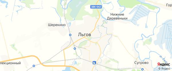 Карта Льгова с районами, улицами и номерами домов: Льгов на карте России
