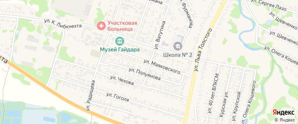 Улица Маяковского на карте Льгова с номерами домов