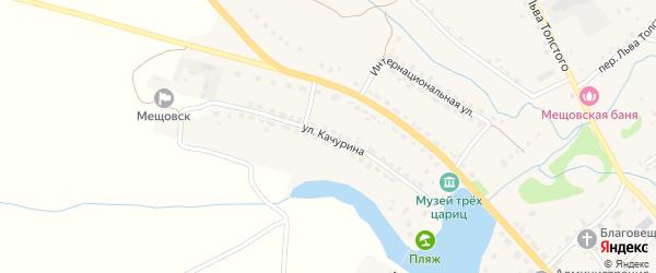 Улица Качурина на карте Мещовска с номерами домов
