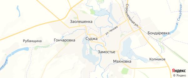 Карта Суджи с районами, улицами и номерами домов
