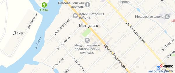 Площадь Ленина на карте Мещовска с номерами домов