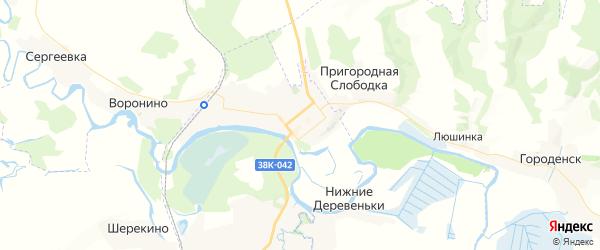 Карта Льгова с районами, улицами и номерами домов