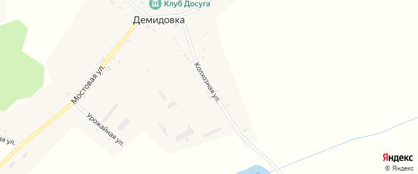 Колхозная улица на карте села Демидовки с номерами домов