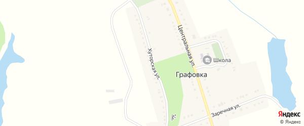 Хуторская улица на карте села Графовки с номерами домов