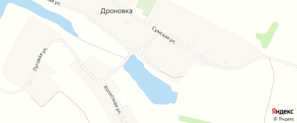 Советская улица на карте села Дроновки с номерами домов
