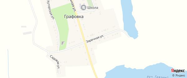 Заречная улица на карте села Графовки с номерами домов